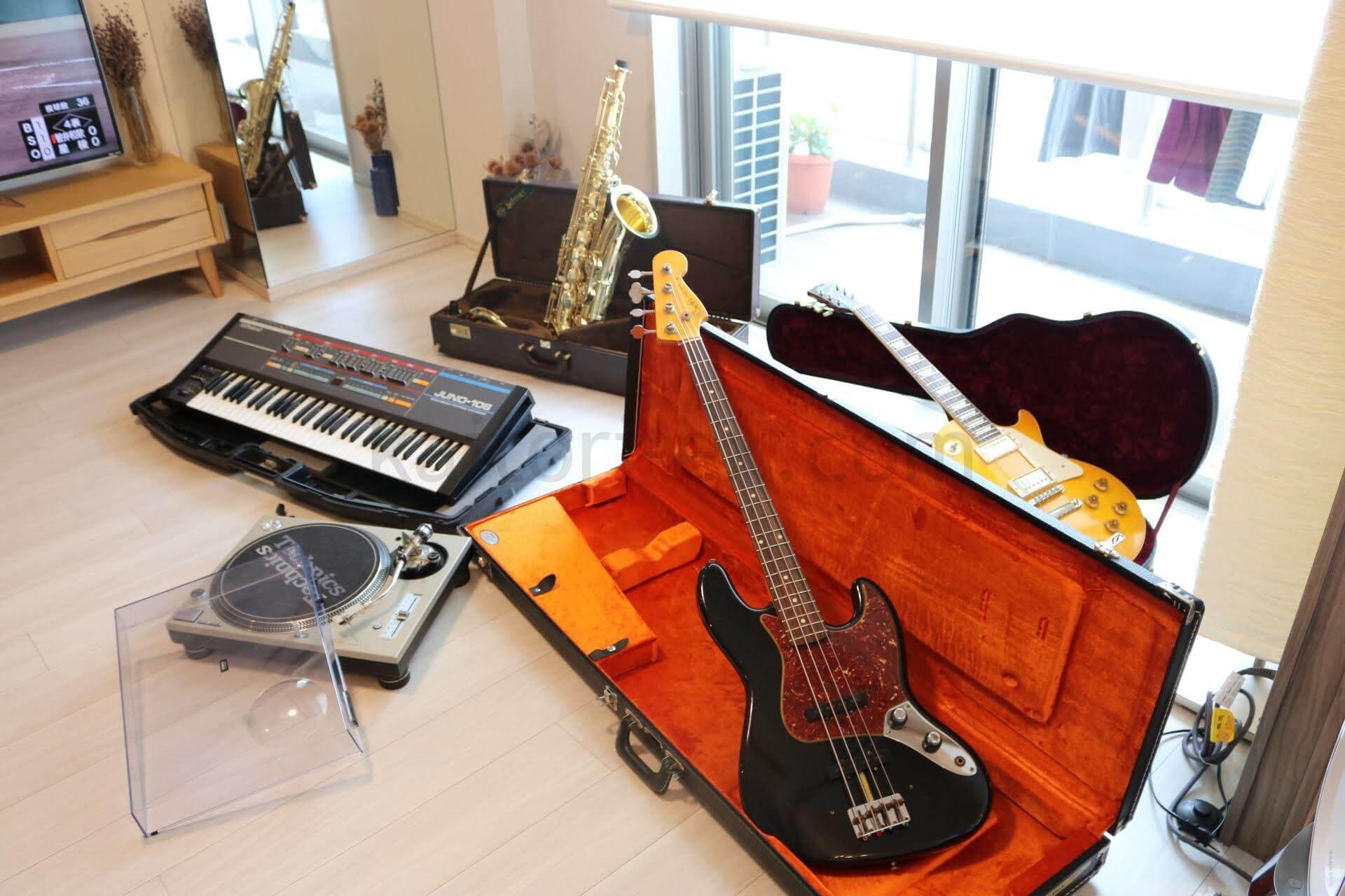 楽器の買取対象(ギター、ベース、サックス、シンセサイザー、DJテーブル)